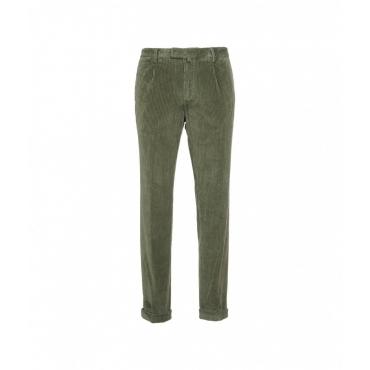 Pantaloni di velluto a coste verde