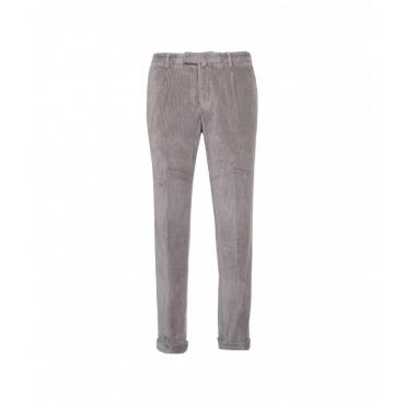 Pantaloni di velluto a coste grigio chiaro