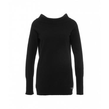 Maglione a maglia con etichetta con logo nero