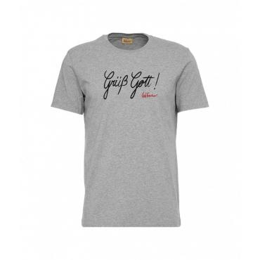 Maglietta con slogan grigio chiaro