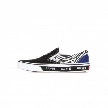 scarpa bassa uomo classic slip-on korean typography BLACK/FORMULA ONE