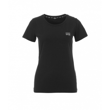 T-shirt con logo nero