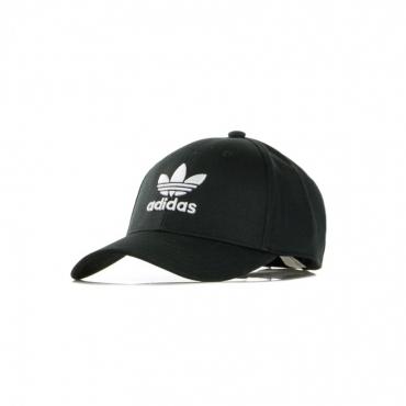 cappellino visiera curva uomo baseball classic trefoil BLACK/WHITE