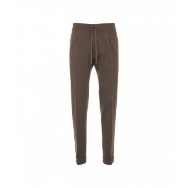 Pantalone in jersey marrone