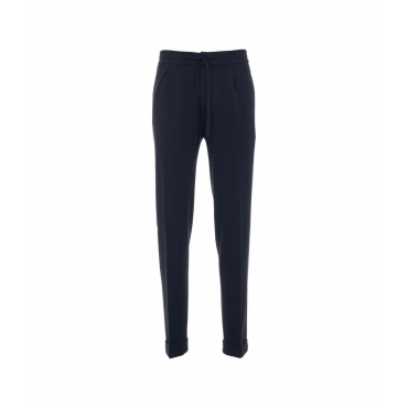 Pantalone in jersey blu scuro