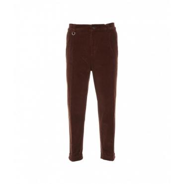 Pantaloni in velluto a coste marrone