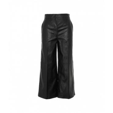 Pantalone in eco pelle nero