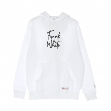 felpa cappuccio uomo legacy reborn hoodie x notorious big WHITE