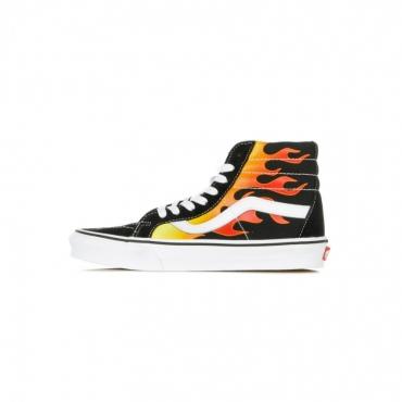 scarpa alta uomo sk8-hi reissue flame BLACK/BLACK/TRUE WHITE