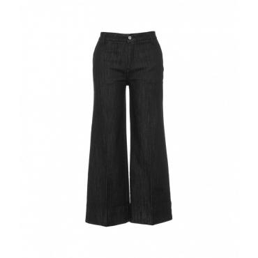 Wide leg jeans grigio scuro