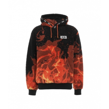 Hoodie Sweater Fire nero
