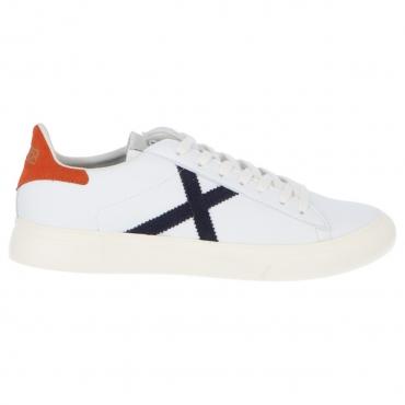 Scarpa Munich X Uomo Rete Sneaker 52 BIANCO