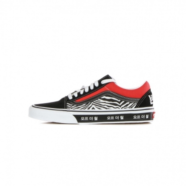 scarpa bassa uomo old skool korean typography RACING RED/TRUE BLUE