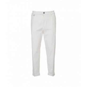 Pantaloni in velluto a coste panna