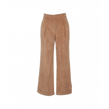 Pantalone in velluto a costine Cammello