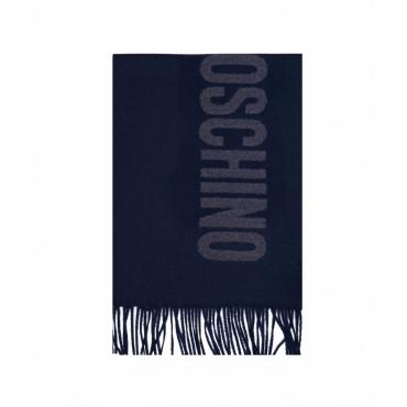 Sciarpa in lana merino blu scuro