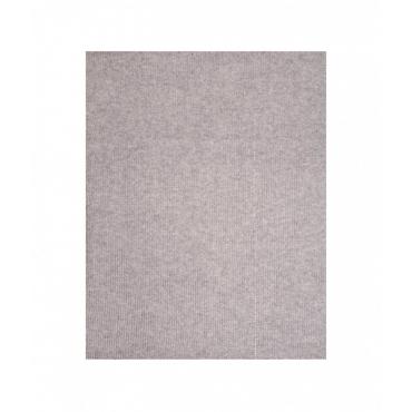 Sciarpa in maglia con logo strass grigio