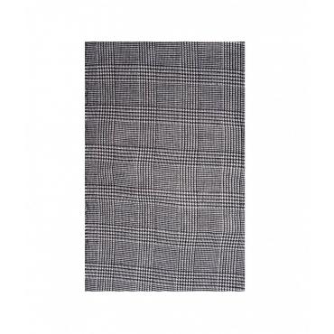 Sciarpa in Glen Check Pattern nero