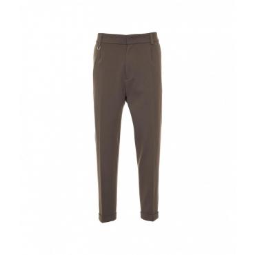 Pantalone casual in jersey marrone
