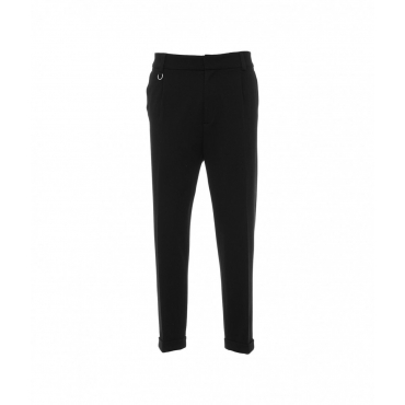 Pantalone casual in jersey nero