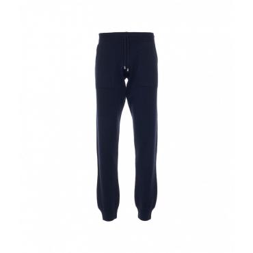 Pantaloni a maglia Pietra Serena blu scuro
