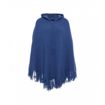 Hooded Cape blu