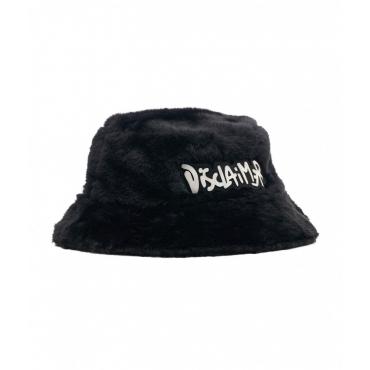 Bucket hat in eco pelliccia nero