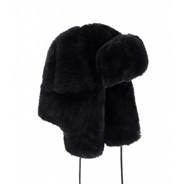 Cappello da aviatore in eco pelliccia nero