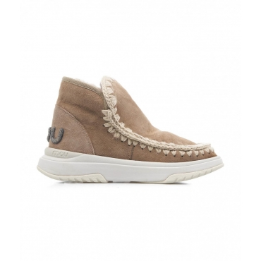 Boots Eskimo Jogger Glitter Logo marrone chiaro