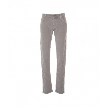 Pantalone in velluto a costine Nick grigio chiaro