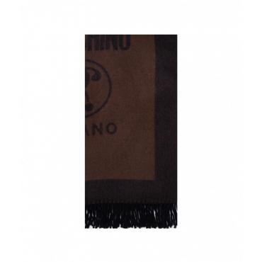 Sciarpa in lana marrone scuro