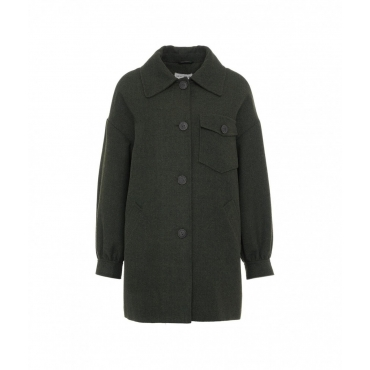 Wool Hunter Tweed Jacket Harris verde scuro