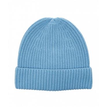 Berretto a maglia azzurro