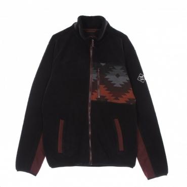 giubbotto pile uomo wonderer track jacket BLACK
