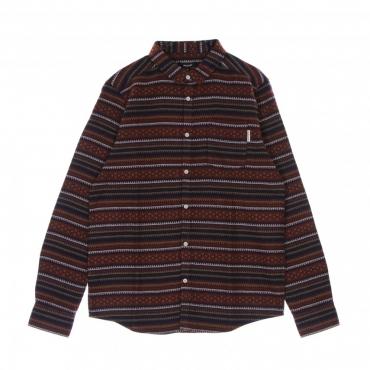 camicia manica lunga uomo insito stripe shirt NAVY WINE