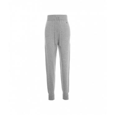 Pantaloni a maglia con logo grigio