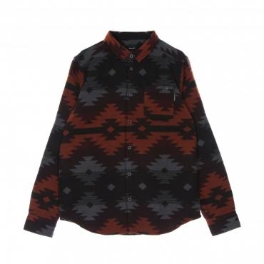 camicia manica lunga uomo santania shirt ANTHRACITE/RED