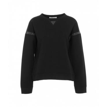 Sweater con rivetti nero