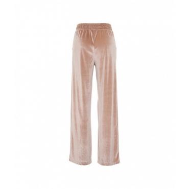 Pantalone ampio in velluto Cammello