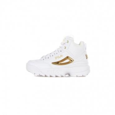 scarpa alta donna disruptor q mid wmn WHITE/GOLD