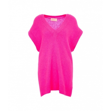 Maglione gilet pink
