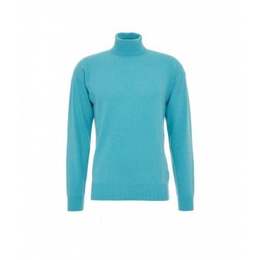Maglione dolcevita in cashmere blu