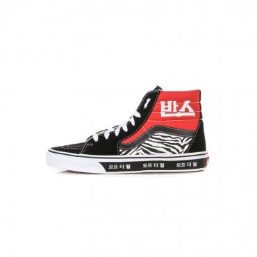 scarpa alta uomo sk8-hi korean typography RACING RED/TRUE BLUE