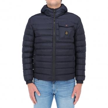 Giacca Refrigiwear Uomo Piuma Cappuccio Hunter Jacket DARK BLUE