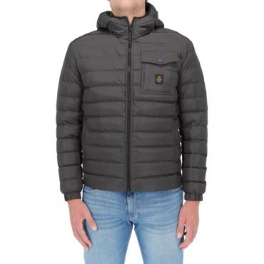 Giacca Refrigiwear Uomo Piuma Cappuccio Hunter Jacket DARK ANTRACITE