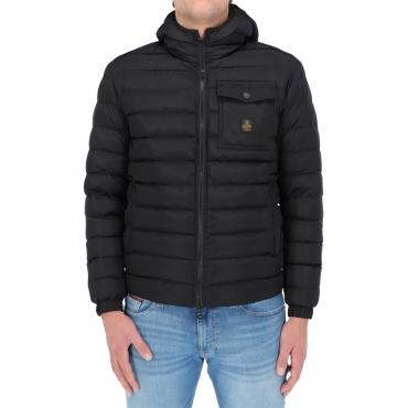 Giacca Refrigiwear Uomo Piuma Cappuccio Hunter Jacket NERO