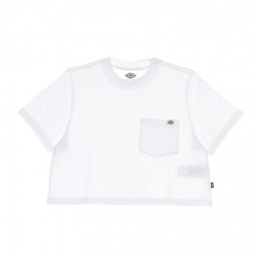 maglietta corta donna porterdale crop w WHITE
