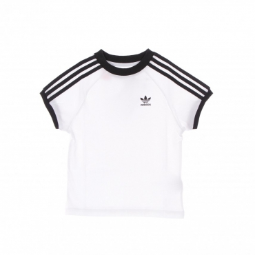maglietta bambino 3 stripes adicolor tee WHITE/BLACK