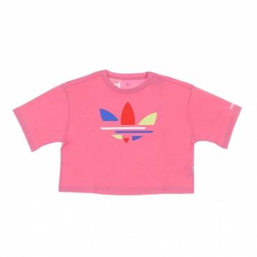maglietta corta bambino cropped tee ROSE TONE