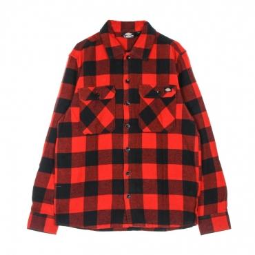 camicia manica lunga uomo new sacramento l/s shirt RED